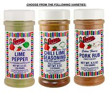 Bolner's FIESTA SEASONING CHILI LIME PEPPER PORK RUB Extra Fancy 5.5-6oz CHOICE