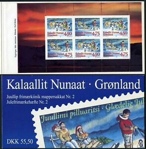 Greenland 328a booklet,MNH. Christmas 1997:Child with dog;Family with presents.