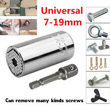 2 Pcs Multi Function Mechanics Socket 7-19mm Power Drill Adapter Car Hand Tools