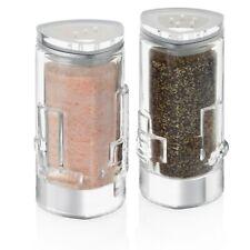 JoyJolt Revere Glass Salt and Pepper Shaker, 2 oz set