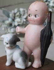 "~ Rose O'Neill Kewpie & Doodle Dog Figurine 1913 Label Germany 3"" ~"