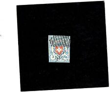 SWITZERLAND, SCOTT #10,1851 Issue No frame Lt. Blue (SEE PHOTO)
