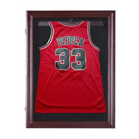 HOMCOM Jersey Display Case Memorabilia Sports Shirt Cabinet
