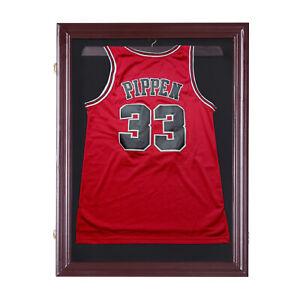 HOMCOM Jersey Display Case Memorabilia Sports Shirt Cabinet