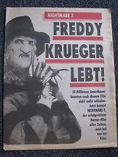 Freddy Krueger-A Nightmare on elmstreet-Nightmare 3-GIORNALE-Made in Germany