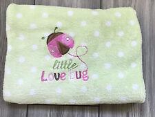 CIRCO Green Polka Dot LITTLE LOVE BUG Fleece Blanket Lovey SOFT Ladybug Target