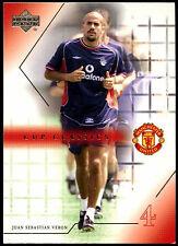 Juan Sebastian Veron Man. United #82 Upper Deck 2001 tarjeta de comercio de fútbol (C361)