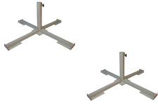 2 Schirmständer Plattenständer Weiss f. Steinplatten Sonnenschirmständer 25-40mm