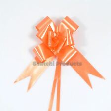 10pcs of 30mm ORANGE Pull Bows, Wedding Anniversary Floral Tributes bouquets