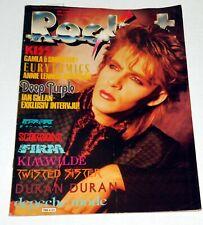 Rocket Magazine 1985 Sweden Duran KISS Band Kim Wilde Dead Or Alive Peter Burns