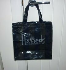 Harrods Navy and Grey glitter stripe small tote bag - new