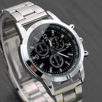 New Men's Stainless Steel Watch Sport Quartz Hour Wrist Analog Business Watches