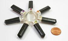 Reiki ENERGÍA CARGADO NATURAL CUARZO TURMALINA NEGRA TRANSPARENTE generador de energía Aura