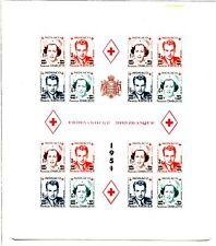 Monaco 1885-1968 belle collection avec bloc 4a, B (v3682d
