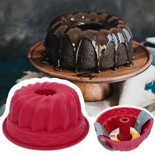 1PCS Rot Silikon Gugelhupf Kastenform Kuchenform Backform Tortenform Brotform