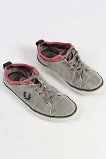 Fred Perry Mens Sneakers Casual Designing Vintage Stylish Shoes Grey UK 7 S234