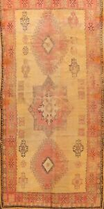 Antique Geometric Vegetable Dye Hand-knotted Authentic Moroccan Area Rug 6'x11'