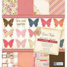 "Grace Taylor Millies Garden Paper 12"" x 12"" Scrapbook Paper Pad 30 Sheets GS2132"
