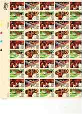 Scott # C-105/8 . 40 Cent Air Mail. Olympics.Sheet of 50