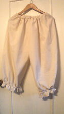 """LADIES RENAISSANCE BLOOMERS HANDMADE IN USA COTTON  SCA, LARP ONE SIZE 26""""- 48""""W"""