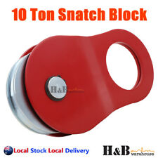 10 Ton Snatch Block Recovery Winch Rope Pulley Hoist Rated 4WD Red C0105