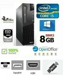 PC COMPUTER I5 WIFI HDMI QUAD CORE LENOVO M91P 8GB DDR3 HD 250GB WIN 10