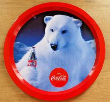 Plateau Métal Publicitaire Coca Cola Enjoy Ours Polaire Bistrot Bar Collection