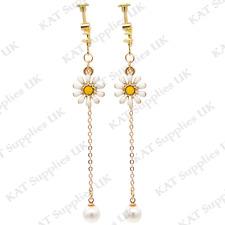 CLIP ON Earrings Gold Non Pierced Ear Studs Womens Jewellery Fashion Round #81