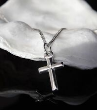 Children's Sterling Silver 925 Necklace Small Easter Cross Pendant 16'' Chain