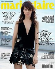 Marie Claire French Magazine June 2015 Charlotte Gainsbourg NEW