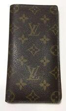 VINTAGE Louis Vuitton Wallet Monogram Bi-Fold Credit Card Checkbook Cash Slots