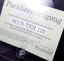 4er Set Parkscheinhalter Clip für Parkausweis mit Saugnapf Auto Scheibe [#1453]