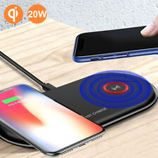 20W FAST Dual QI Wireless Charger Pad For iPhone 11 XR 8 Plus Huawei Mate 20 Pro