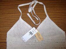 NWT: Denim & Supply by Ralph Lauren Halter Crocheted w/Fridge Dress  Sz: M