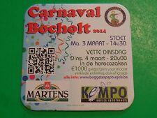 Beer Coaster ~ Browerij MARTENS Bier ~ Bocholt, BELGIUM ~ Carnaval Bocholt 2014