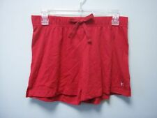 Danskin Now Womens Red Elastic Waist Pull On Knit Shorts Bow Small S 4 - 6 NEW