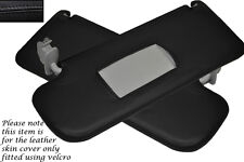 BLACK STITCHING FITS VW GOLF MK4 4 IV JETTA  98-05 2X SUN VISORS COVERS ONLY