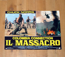 COLOMBIA CONNECTION IL MASSACRO fotobusta poster Chuck Norris Delta Force BS22