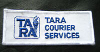 """TARA COURIER SERVICE EMBROIDERED SEW ON PATCH KINGSTON JAMAICA 4"""" x 1 3/4"""""""
