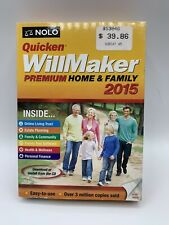NEW SEALED Quicken WillMaker Premium Home & Family 2015 FREE SHIPPING
