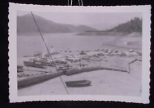 VINTAGE PIC OF CARS AND TRUCKS @ A LAKE PHOTO PHOPTGRAPH