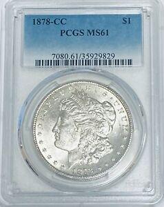 1878-CC $1 Morgan Silver Dollar PCGS MS61