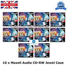 Maxell Audio Blank CD-RW  Music 80 Mini pack Jewel Cased Audio Music CD's NEW HQ