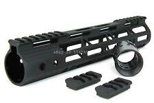 """M-LOK .223 10"""" Inch Ultra-Slim Light Weight Free Float Handguard w/Steel Nut"""
