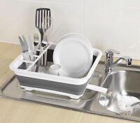 New Wenko  Foldable Dish Rack White / Grey 36.5 x 31 x 13 cm .