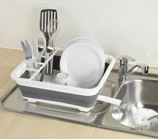 New Wenko  Foldable Dish Rack White / Grey 36.5 x 31 x 13 cm .