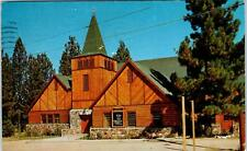 BIG BEAR LAKE, CA  Bear Valley COMMUNITY CHURCH  1956  Postcard