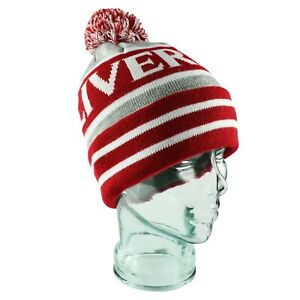 Liverpool Bobble Hat Red, White & Grey Gift Souvenir