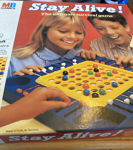 Vintage MB Games Stay Alive Board Game 1984 West Germany With 20 Balls