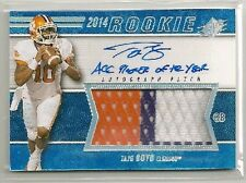 "Tajh Boyd 2014 SPx BLUE 3 color Patch RC Auto ""ACC Player of Year"" /50 - NY JETS"